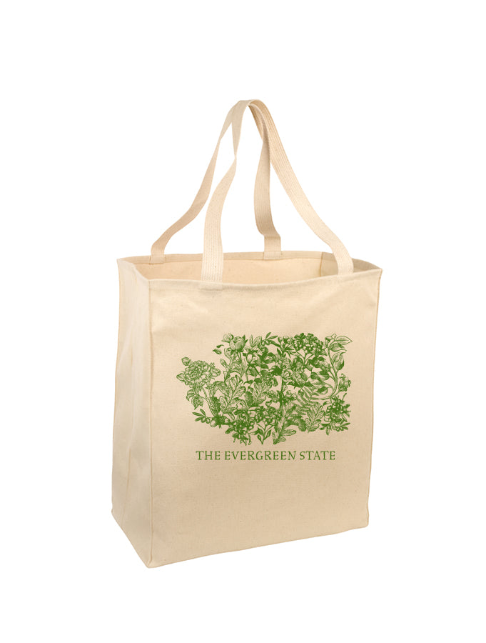 Melanie Peterson - The Evergreen State - Natural Tote