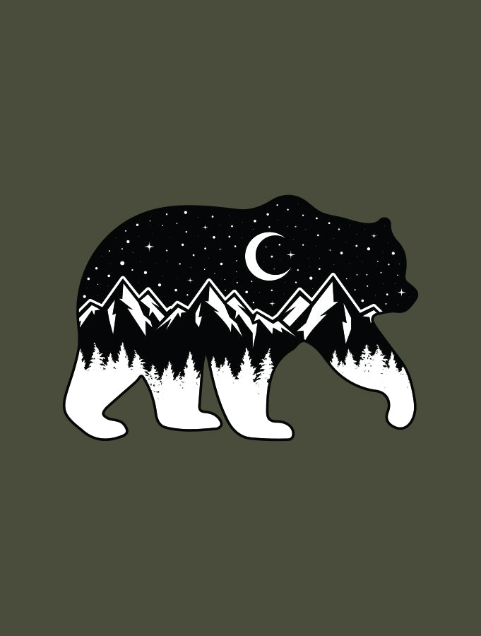 Night Sky Bear · Ladies Tank