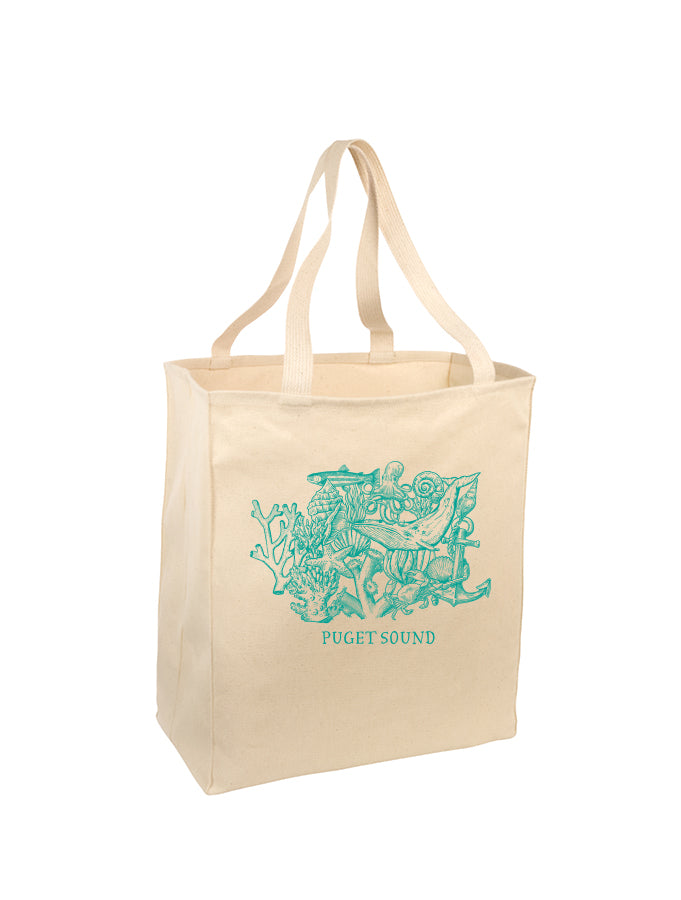 Melanie Peterson - Puget Sound - Natural Tote