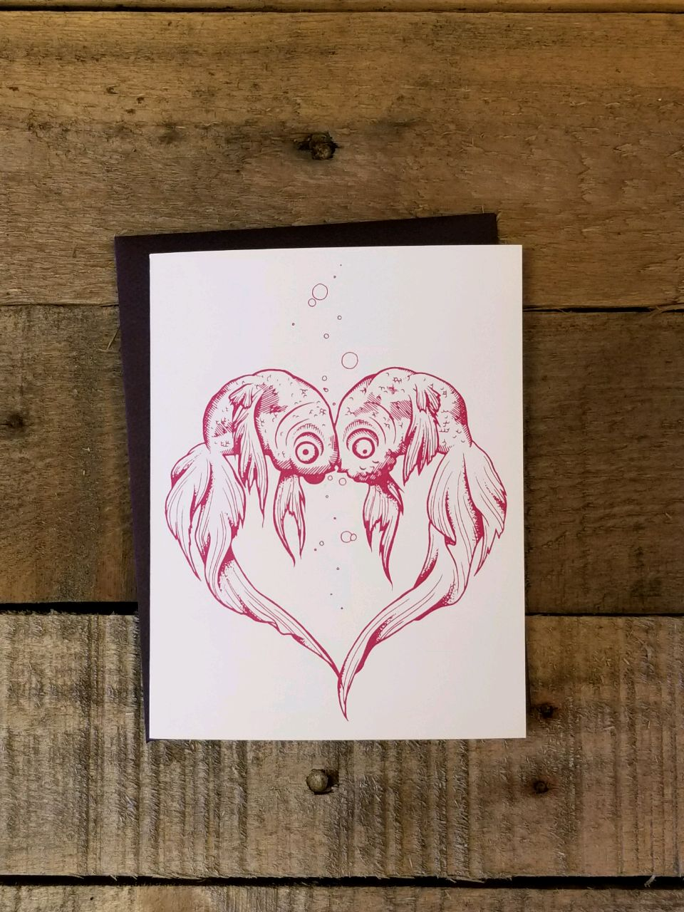 Love Fish Greeting Card Nicole Gress