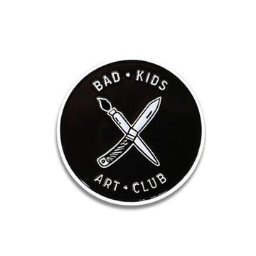Bad Kids Art Club Enamel Pin Print Ritual