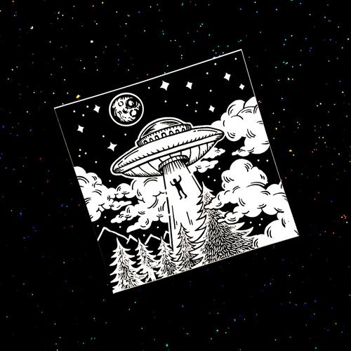 Alien Abduction · Vinyl Sticker