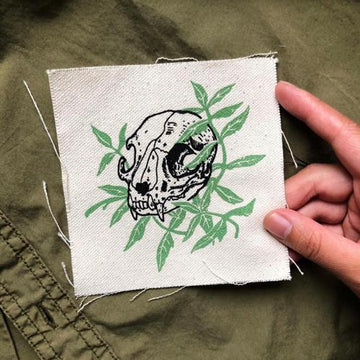 Cat Skull Catnip · Canvas Patch