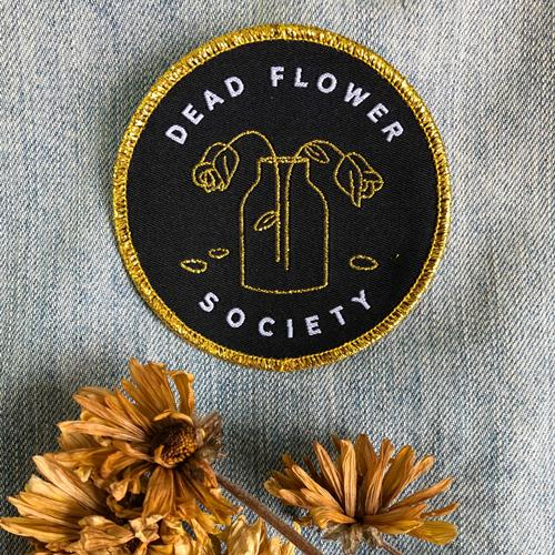 Dead Flower Society • Iron-on Patch