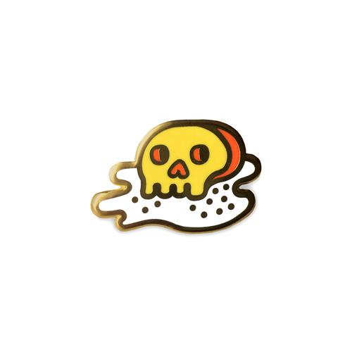 Fried Egg of Death Enamel Pin