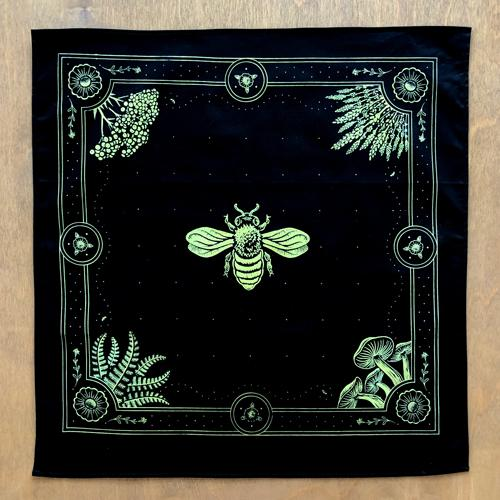 Honey Bee • Black Bandana
