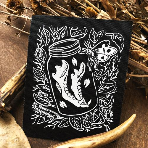 Jaw Bone in Jar • Canvas Patch