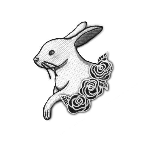Rabbit with Roses • Iron-on Patch