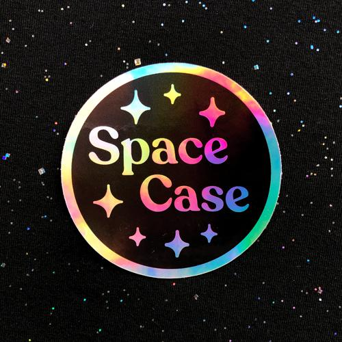 Space Case Holographic Sticker