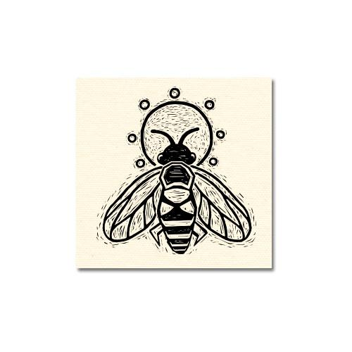 Honey Bee Canvas Patch Print Ritual