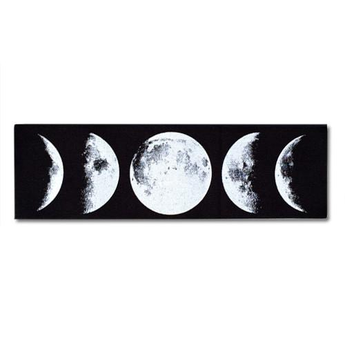 Moon Phases Canvas Patch Print Ritual