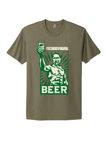 Slippery Pig · Technoviking Tee Light Olive
