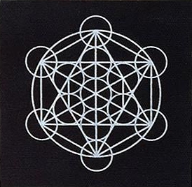 Metatron's Cube Embroidered Patch Print Ritual