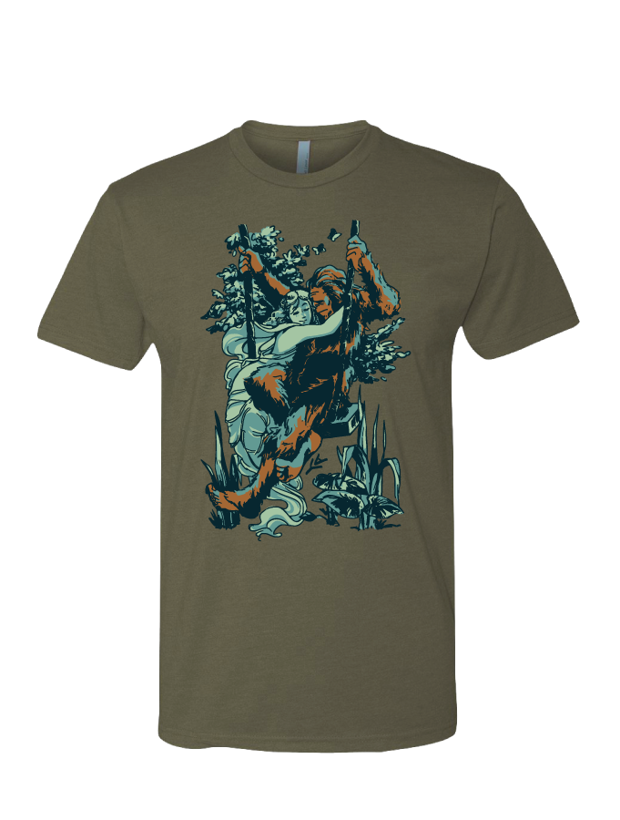 Swingin' With Sasquatch • Dukes Tee