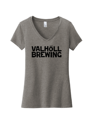 Valhöll Gray Frost · Ladies V-Neck Tee
