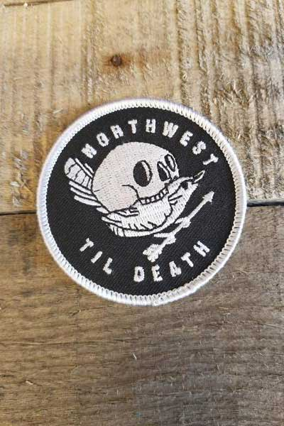 NWTD Traveler Bird Skull Embroidered Patch