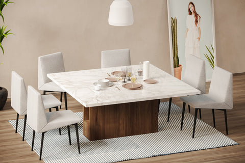 DE.CI Furniture DI.NO Square Dining Table and BU.KA Dining Chair