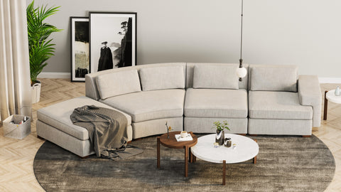 DE.CI Furniture CL.AW Four Seater Curved Sofa