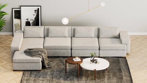 DE.CI Furniture CL.AW Four Seater L Shape Sofa