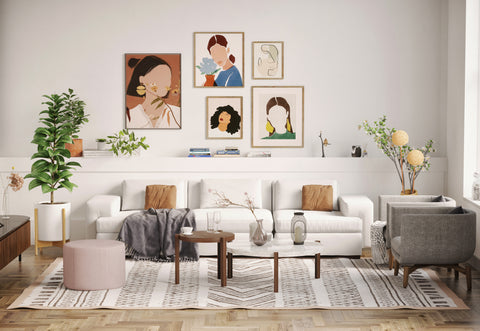 DE.CI Cozy Living Room with CL.AW Three Seater Sofa and CI.RC Coffee Tables and LA.ND Armchairs