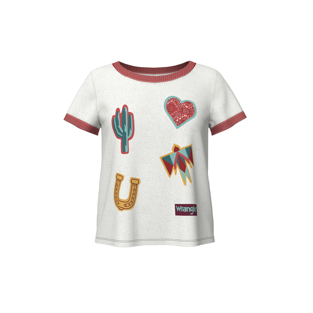 Girls Short Sleeve Ringer Tee