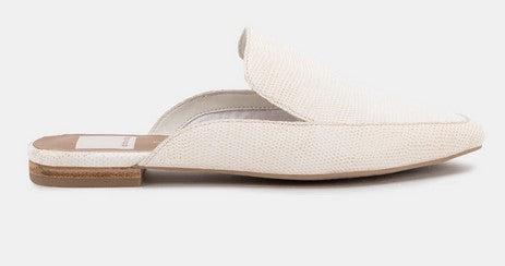 Dolce Vita Halee Flats - White Embossed Lizard