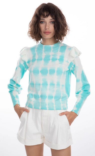 Generation Love Colette Tie Dye Sweater - Turquoise /White
