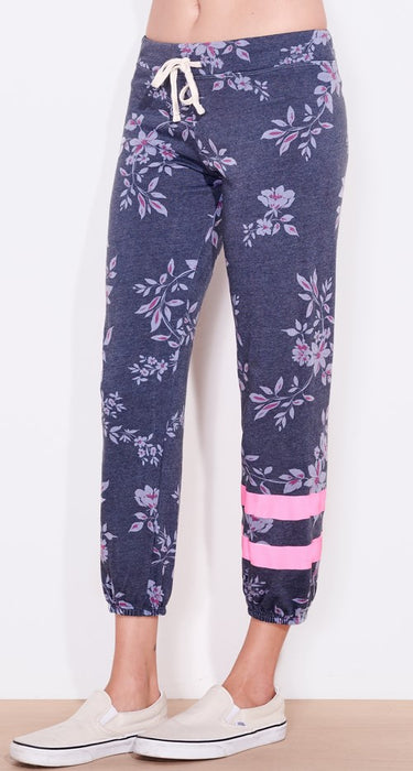 Sundry Floral Sweatpants - Navy