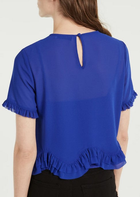 Milly Julia Chiffon Top - Azure