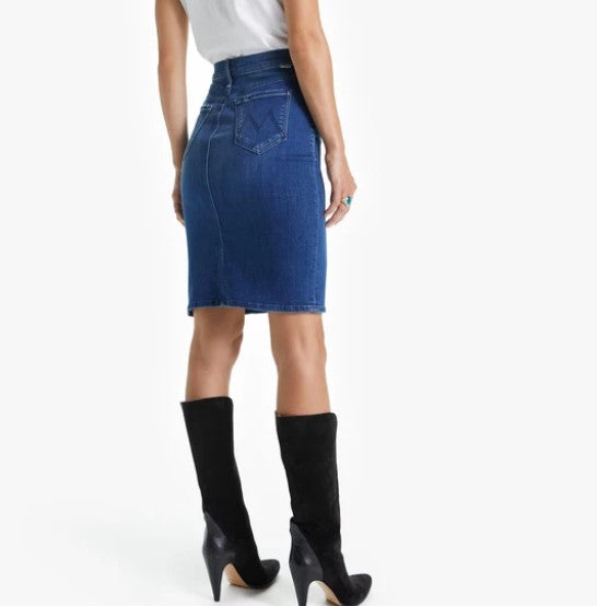 Mother Denim High Waisted Slice Knee Skirt - Bazaar Adventures