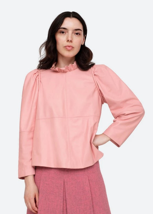 Sea NYC Lora Leather Top - Pink