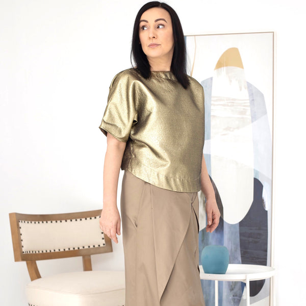 5- Tom s/s gold top by Natalija Rushidi