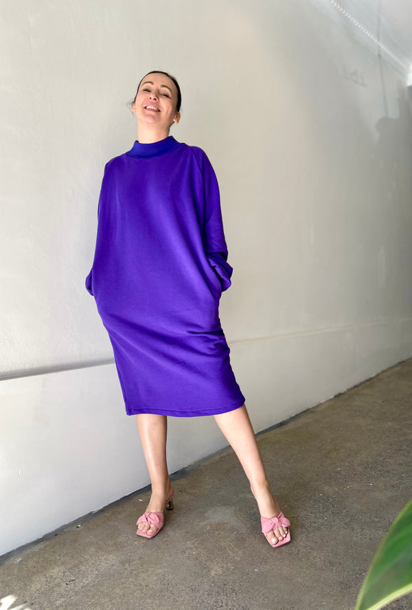 1- Purple sweatdress