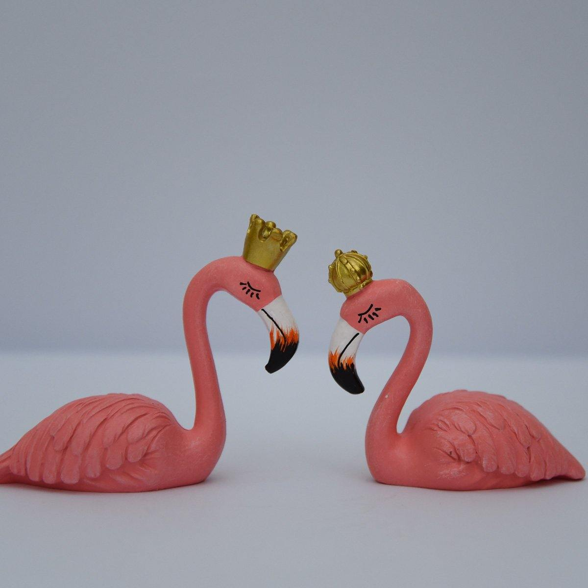 Sitting King & Queen Flamingo