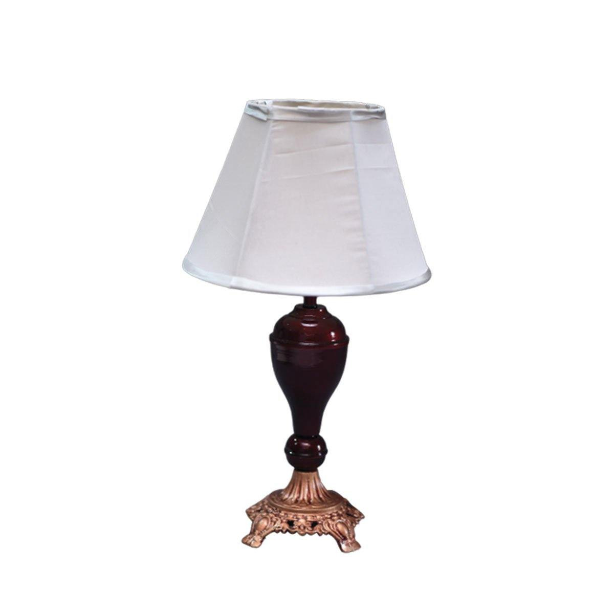 Traditional Maroon Table Lamp