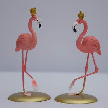 Standing King & Queen Flamingo