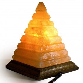 Salt Lamp Pyramid Shape with Lines
