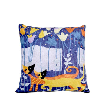 Cats Walk Embroidery Cushions