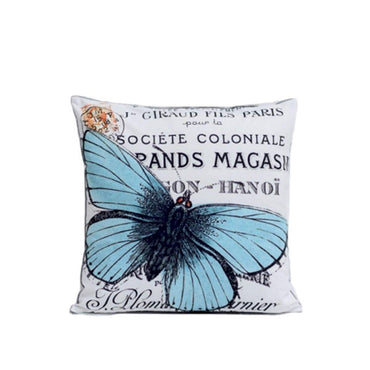 Blue Butterfly Digital Printed Cushions
