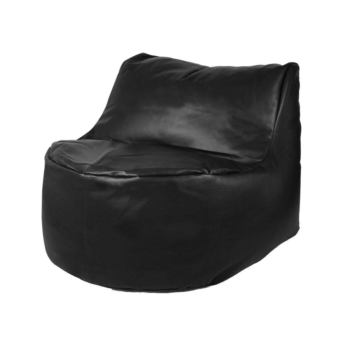 Giant Bean Bag Leatherite-Black-L