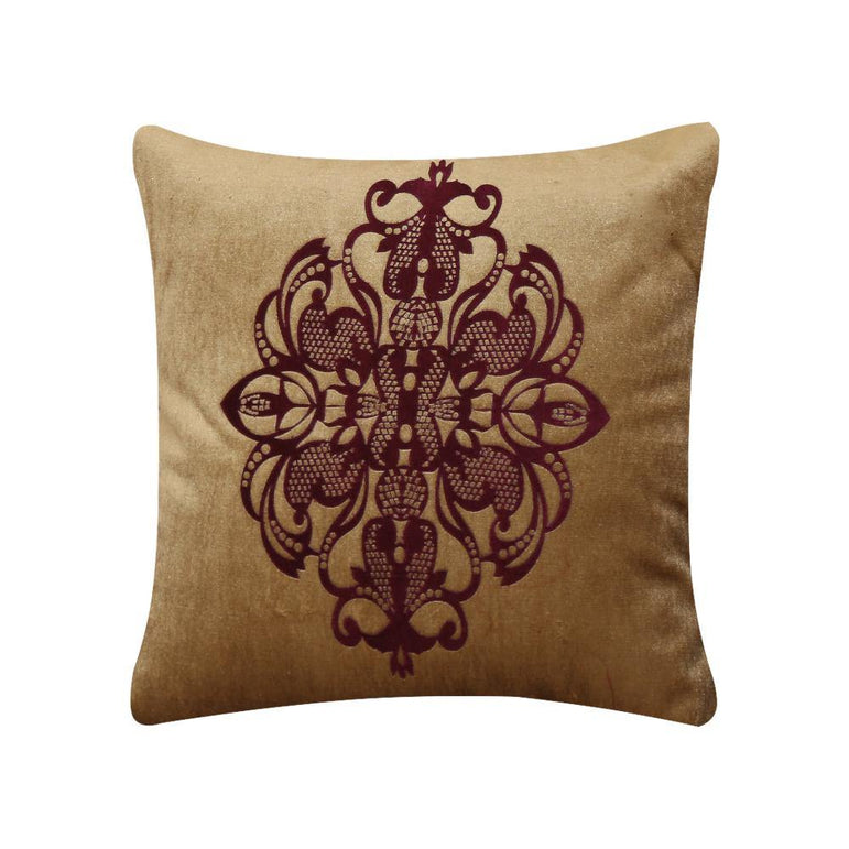 Maroon and Copper Cushion Cover