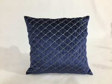 Blue embroidery cushion