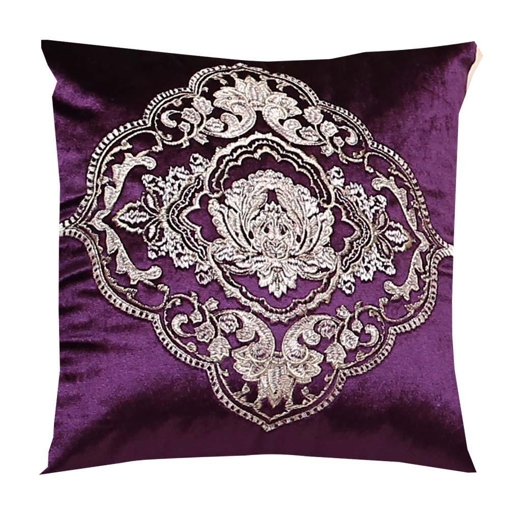 Eliza Purple Cushion Cover
