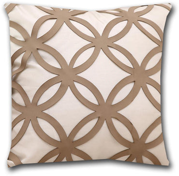 Flowera Aplic Leatherite Cushion Cover