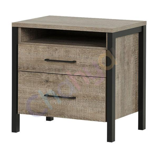 Barca 2 Drawer Side Table
