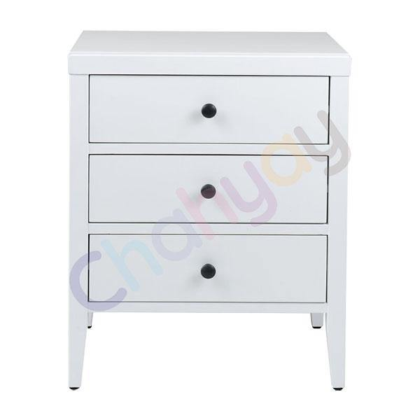 Rushville 3 Drawer Side Table