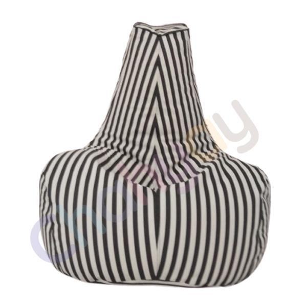 Stripy Leatherite Bean Bag Chair