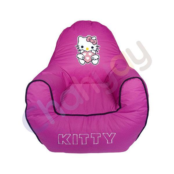Kitty Motif Kids Bean Bag Sofa