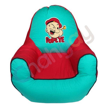 Popeye Motif Kids Bean Bag Sofa