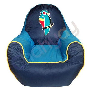 Parrot Motif Kids Bean Bag Sofa